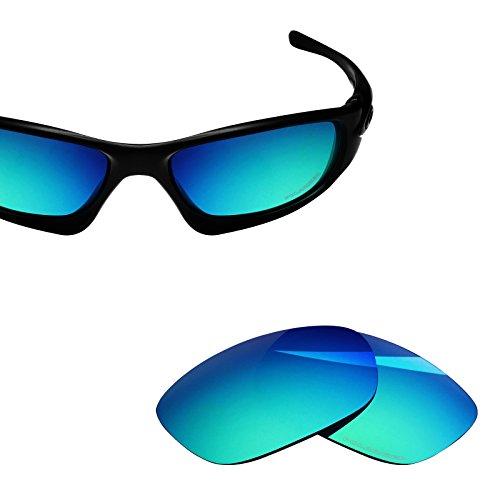 BlazerBuck Anti-salt Polarized Replacement Lenses for Oakley Ten X - Emerald ()