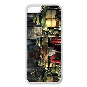 LJF phone case Teenage Mutant Ninja - White Case - Turtles Unique Design Rubber Tpu Cover Case Silicone Case For iPhone 5C
