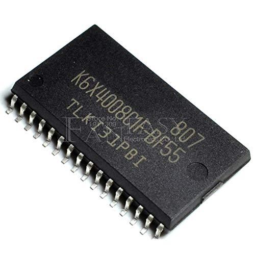 10pcs K6X4008C1F-BF55 SOP-32 K6X4008C1F BF55 TSOP-32 Memory Chips 512Kx8 bit Low Power Full CMOS Static RAM ()
