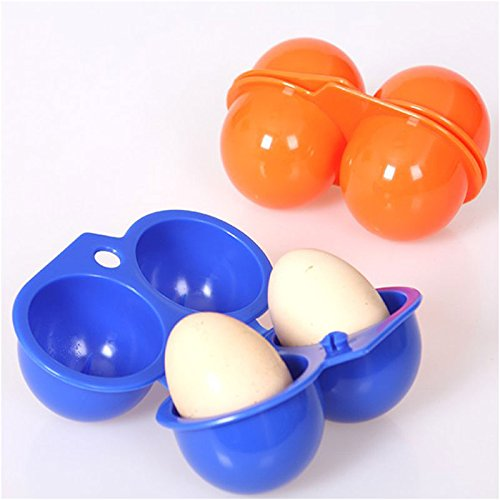 rungao port/átil huevo Caja de almacenamiento contenedor senderismo al aire libre Camping Transporte para 2/Egg Case