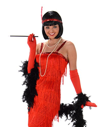 Women's Red Flapper Dress Costume Halloween (S) (Red Fringe Flapper Costume)