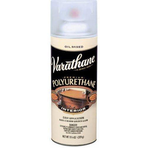 RUST-OLEUM 9181 Varathane Polyurethane Wood Finish Spray, Satin, 11.25 oz Multicolor (Outdoor Polyurethane)
