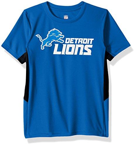 Outerstuff NFL Youth Boys Mainframe Short Sleeve Performance Tee-Lion Blue-L(14-16), Detroit Lions Detroit Lions Youth Uniform