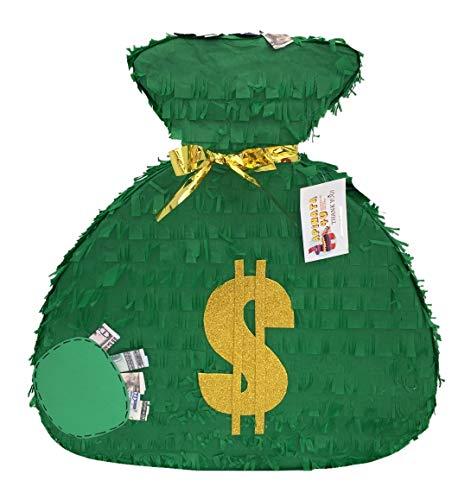 APINATA4U Green Money Bag Theme Pinata]()