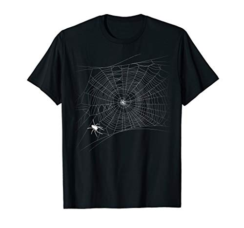 Black Widow Spider Costumes Women - Scary Spider Web T-Shirt - Black