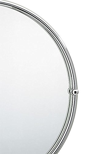 Valsan 66001 Kingston Bathroom Round Mirror with Frame With Finish: Polished -