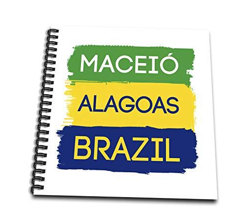 3dRose Alexis Design - Brazilian Cities - Maceio, Alagoas national colors patriot Brazil home town design - Mini Notepad 4 x 4 inch (db_311939_3)