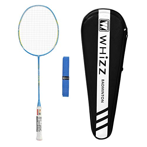 WHIZZ A730 High Modulus Graphite Professional Badminton Racket for Amateur/Intermediate/Club Players (Sky+Blue)