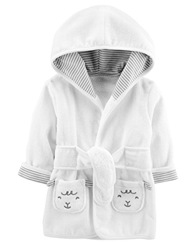 Carters Terry Robe - Carter's Baby's Hooded Robe (0-9 Months, Ivory)