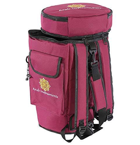 First Class Darbuka/Doumbek Case Bag - Bordeaux + Darbuka Keychain Holder by Arab Instruments