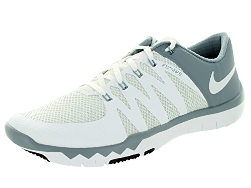 c7b43cef0c74 Galleon - Nike Men s Free Trainer 5.0 V6 White White Dove Grey Pr Pltnm  Training Shoe 11.5 Men US
