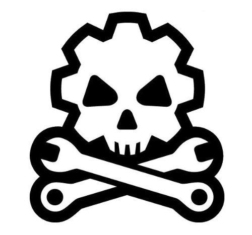 Death Mechanic Vinyl Decal (SWAT (Black)) (Decals Swat)