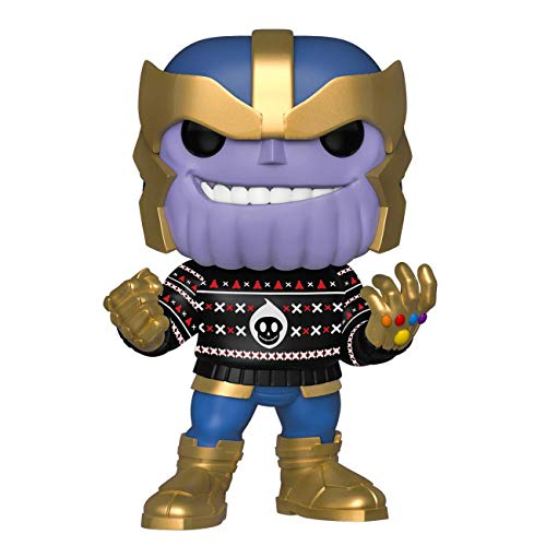 Funko Pop Bobble Vinyle Marvel, Holiday-Thanos Figura Coleccionable, Multicolor (43336)