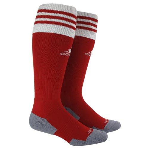 adidas Copa Zone Cushion II Soccer Socks (1-Pack), University Red/White, Large