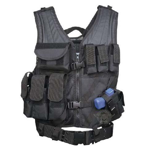 5ive Star Gear CDV-5S Cross Draw Vest, Black, Large/XX-Large