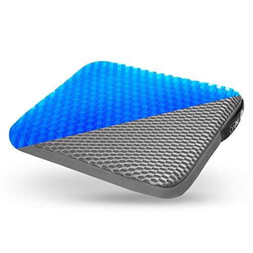 Cojin ortopedico de gel para sentarse - Postura Saludable Y Alivia El Dolor para alivio de coxis, espalda inferior y ciatica - Cojin Ergonomico para la oficina, casa, coche, silla de ruedas
