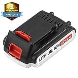 Munikind LBXR20 2000mAh Replace for Black and Decker 20V Battery Max LB20 LBX20 LST220 LBXR2020-OPE LBXR20B-2 LB2X4020 Cordless Tool Battery