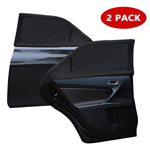 MerryXD Car Window Shade,【2019 Upgrade Version】 Breathable Mesh Car Rear Side Window Shade Cover Full Windows-Universal Fit for Most(95%) of Cars-Protect Kids Pet from The Sun,UV Rays-2 - Cover Rear Side
