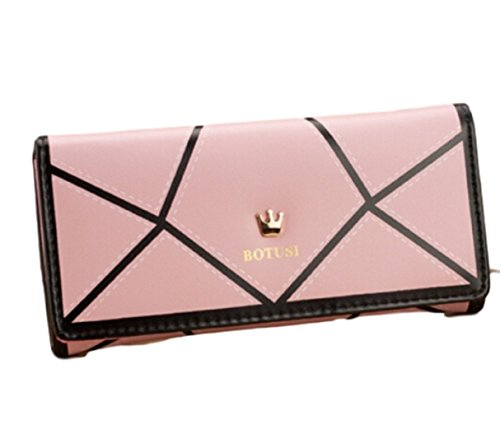 HarrowandSmith Damen Leder Handtaschen Kellnerin Geldbörse Tasche Brieftasche Portemonnaie geeignet für alle Anlässe Rose