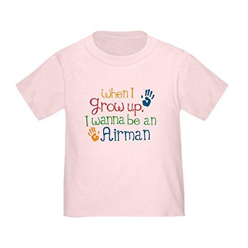 CafePress Air Force Kids Airman T-Shirt Cute Toddler T-Shirt, 100% Cotton Pink
