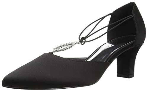 - Easy Street Women's Moonlight Dress Pump,black satin leather sole,8 M US