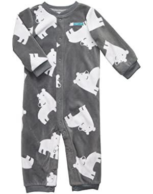 Carter's Baby Boys Infant' Microfleece Coverall Size 18mos