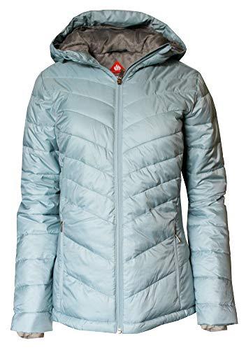 Columbia Women's Discovery Peak III Omni Heat Hooded Puffer Jacket (Clear Blue, S) ()