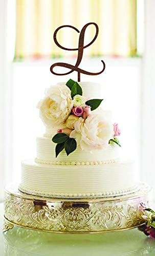 - Wedding Cake Topper Letter L cake topper Unique Cake Topper Gold Monogram Cake Topper Initials wood letter L Cake Topper Single Letter L H O