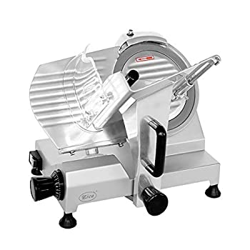 Image of Home and Kitchen Zica 10' Chrome-plated Carbon Steel Blade Electric Deli Meat Cheese Food Ham Slicer Commercial and for Home use ZBS-10A
