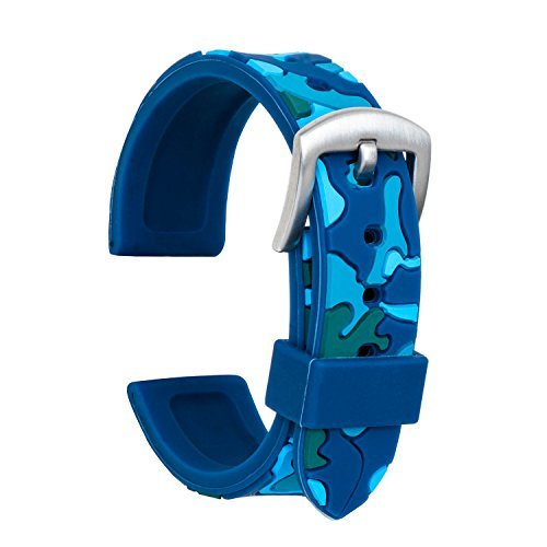 Ullchro Correa Reloj Calidad Alta Recambios Correa Relojes Caucho Camuflaje Hombre Mujer - 18mm, 20mm