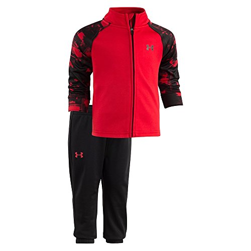 Under Armour Baby-Boys Newborn Precision Warm Up UA Set (6-9 Months, University Red (27D92077-60)/Black/Pearl Red)