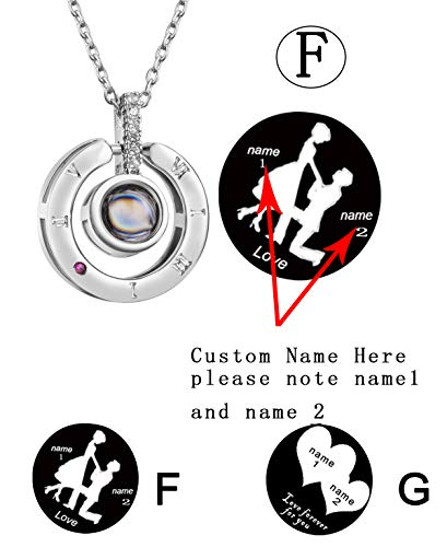 Bowisheet I Love You Necklace 100 Languages Love Memory Necklace Custom Jewelry for Women -