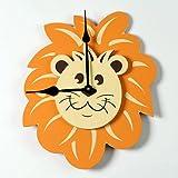 Lion Head Kid Clock Color: Dark Chocolate