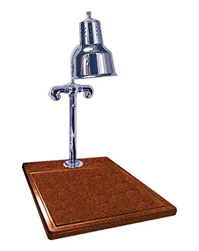 Hanson Brass SLM/Ti/CH Carving Station, Single Bulb Heat Lamp, 18'' x 20'' Ti Style Synthetic Granite Base, Polished Stainless Steel by Hanson Heat Lamps