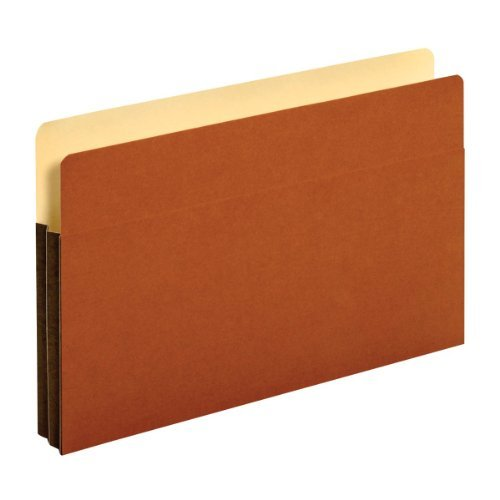 Globe-Weis Tyvek File Pockets, 1.75-Inch Expansion, Legal Size, Brown, 25 Pockets Per Box (64254) by Globe Weis