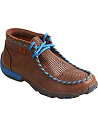 Twisted X Western Shoes Boys Girls Rubber Casual Brown Blue YDM0027