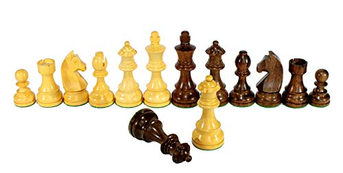 StonKraft Collector Edition Wooden Chess Pieces Chess Coins Pawns Chessmen Figurine Pieces (with Two Extra Queens)(3.75