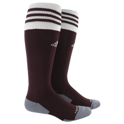 adidas Copa Zone Cushion II Sock, Light Maroon/White, Medium