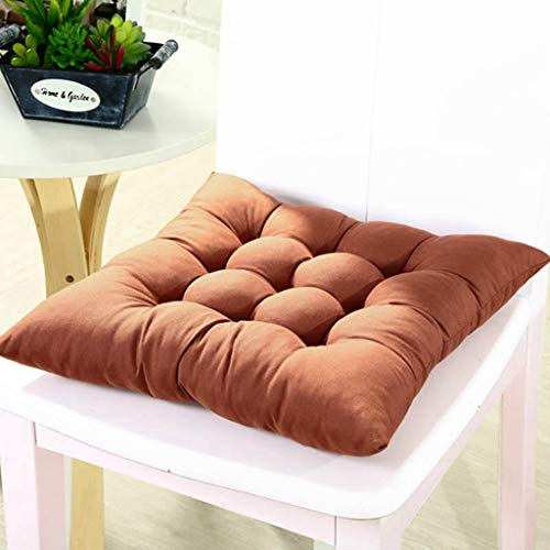 40x40CM Family Winter Home Office Decor Seat Cushion Solid Color Comfortable Bar Chair Sofa Pillow Buttocks - Pad Solid Race Disc