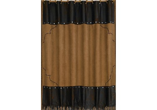 - HiEnd Accents Barbwire Western Shower Curtain