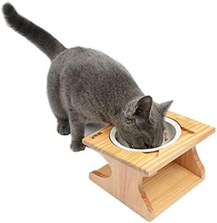 Moontay Cuencos Mascotas, comedero Elevado para Perros y Gatos ...