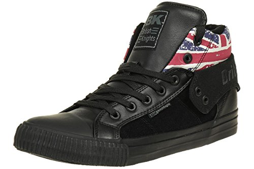 British Knights ROCO BK men trainer Sneaker british flag B40-3703-01 black, shoe size:EUR 45
