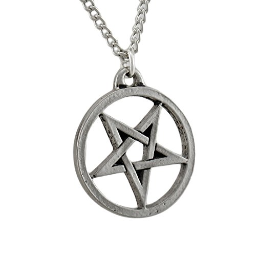 Pendant Inverted Stone (Things2Die4 Chrome Plated Inverted Pentagram Pendant/Necklace)
