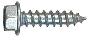The Hillman Group 70340 14-Inch x 1-1/2-Inch Hex Washer Head Slotted Sheet Metal Screw, 100-Pack by The Hillman Group