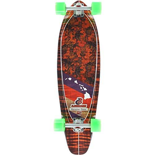 Layback Longboards Hawaiian Aloha Complete Longboard Skateboard - 9.75