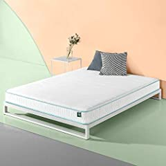 Better sleep comes easy with the firm specialized comfort of the mint Green memory foam Hybrid spring mattress by Zinus. This innovative mattress features a fiber quilted cover, mint Green memory foam comfort layer and coil Springs. Please op...