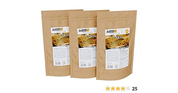 Mezcla de pan con solo 1,4 g de carbohidratos Pro 100 g | adecuado para dieta hCG | 3 unidades (3 x 250 g) 3 x pan dorado