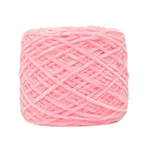 ❤ Lemoning ❤ 250g Gold Velvet Yarn Roving Scarf Knit Wool Yarn Thickness Warm Hat Household D (B) (Hat Wool Drill)