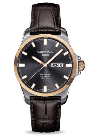 Certina - Reloj Analógico de Automático para Hombre, correa de Cuero color Marrón: Amazon.es: Relojes