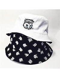 ZSAIMD Dos Caras del Gato del Sombrero del Cubo de Viaje Imprimir Pescador Sombrero al Aire Libre Sombrero for el Sol Gorra for Hombres y Mujeres